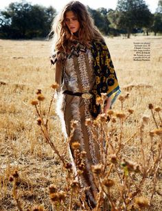 Marlena Szoka in Burberry Prorsum for Elle Spain, November 2014