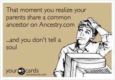 genealogy humor related parents