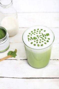 Matcha Latte (lait d'amande ou noisette) #superfood