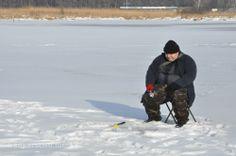 Wędkarstwo podlodowe, ice fishing in Poland. http://www.youtube.com/wedkowanie