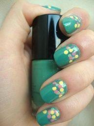 Diseño de uñas -Confeti