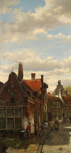 Willem Koekkoek - Nederlands Stadsgezicht
