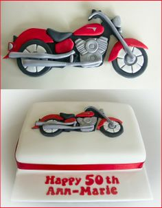 Red Yamaha Motorcycle Cake