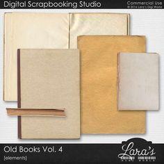 Old Books Vol. 4 by Lara's Digi World | Digital Scrapbooking Element Packs Old Books, Vintage Books, Vintage Art, Another Man, Elements Of Art, Book Themes, Site Design, Digital Scrapbooking, Digital Art