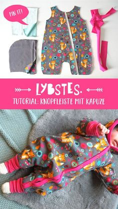 Tutorial: Jumpsuit with button placket and hood - Tutorial: Jumpsuit mit Knopfleiste und Kapuze – Lybstes. Tutorial: Jumpsuit with button placket and hood – Lybstes. Sewing Projects For Beginners, Knitting For Beginners, Knitting Projects, Sewing Tutorials, Sewing Patterns, Sewing Tips, Sewing Hacks, Knitting Patterns, Crochet Patterns