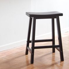 Winsome Wood 24-Inch RTA Single Saddle Seat Counter Stool - Black - Add comfort and style to your seating arrangements with the Winsome Wood 24-Inch RTA Single Saddle Seat Counter Stool - Black. Crafted from solid beec...