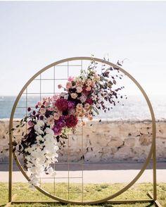 Dreamcatcher beach front ceremony inspiration - @lamoredesign #wedding #ceremony #backdrop #decor #florals