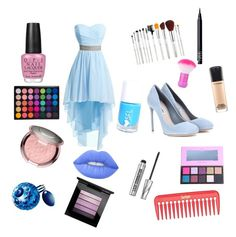 """Princess fashion"" by xixi2010 ❤ liked on Polyvore featuring Miu Miu, NARS Cosmetics, MAC Cosmetics, Bare Escentuals, OPI, Thierry Mugler and Lime Crime"
