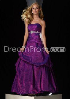 Elegant A-line Strapless Floor-length Prom/Evening Dresses