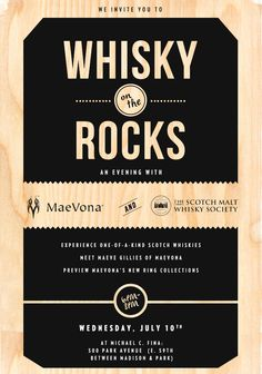 Special Event at Michael C. Fina with MaeVona & The Scotch Malt Whisky Society - Whisky on the Rocks (July 10, 2013)