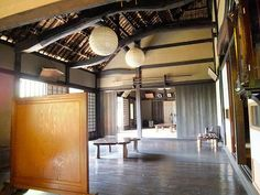 INSIDE OF SEKI'S HOUSE BUILT OVER THAN 400 YEARS AGO IN YOKOHAMA,Japan