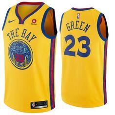 Golden State Warriors Nike Dri-FIT Youth Chinese Heritage  The Bay   Draymond Green  23 City Edition Swingman Jersey - Indigo d51aa2387