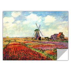 ArtApeelz 'Windmill' by Claude Monet Graphic Art
