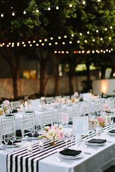 Whimsical Black and White Palm Springs Wedding at the Avalon Hotel Black and white wedding reception inspiration Pink Wedding Receptions, Wedding Table, Wedding Decorations, Wedding Ideas, Black White Parties, Black And White, Palm Springs, Spring Wedding, Dream Wedding