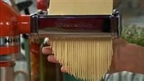 Eggless pasta - reviews say you can substitute the semolina for whole wheat