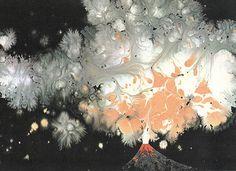 Vulcano by Charley Harper, Golden Book of Biology, click for larger image