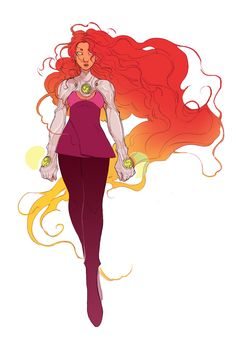 ofalldimensions:an older version of my design from a younger, teen-ier starfire from last month!!