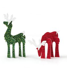 Love these reindeer decorations made with Phoomph! #simplycreativechristmas