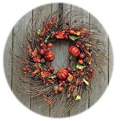 Pumpkin Patch Twig Wreath - Kruenpeeper Creek Country Gifts