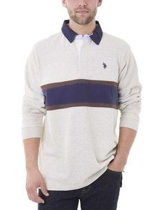 CHEST STRPE LONG SLEEVE Polo Shirt