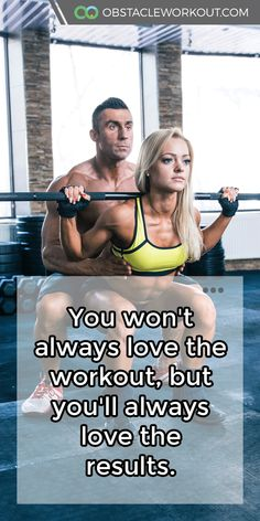 You won't always love the workout, but you'll always love the #results. https://obstacleworkout.com/ #Fitness #Workout #WorkoutMotivation