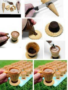 http://www.welke.nl/lookbook/Decoration/Food/Decoration/ijshoorntjes-gebruikt-als-bekertjes-en-gevuld-met-room-chocolade-Leuk.1361832867