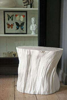 White Tree Trunk Stool/Table from Rockett St George