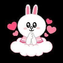 Cony on cloud 9 Beautiful Rabbit, Beautiful Gif, Love Images, Love Pictures, Gato Anime, Animated Heart, Cute Love Gif, Bunny And Bear, Cartoon Stickers