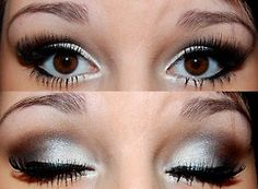 Silvery eye makeup for #bigeyes and #browneyes. Added oomph given by adding a pair of #FalseEyelashes to complement the big eyes.