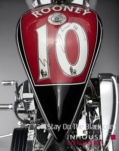 Manchester United team member Wayne Rooney's custom motorcycle designing skills shows how multi-talented he is. Back in 2012 he teamed up with a Danish manufacturer and designed a Lauge Jensen custom motorcycle for raise money for KidsAid. This excl. Libra, Manchester United Team, Motorbike Design, Mens Gadgets, Wayne Rooney, Bike Art, Motorcycles For Sale, Motorbikes, The Unit
