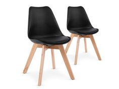 Lot de 2 chaises style scandinave Bovary