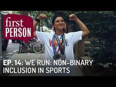 "In the fourteenth episode of PBS Digital Studios' First Person, ""WE RUN: Non-Binary Inclusion in Sports,"" host Kristin Russo talks with Lauren Lubin, a filmm. We Run, Genderqueer, Athlete, Running, Digital, Sports, Women, Hs Sports, Keep Running"