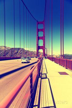 Golden Gate Bridge Dans La Baie De San Francisco En Californie VII Photographie par Philippe Hugonnard sur AllPosters.fr