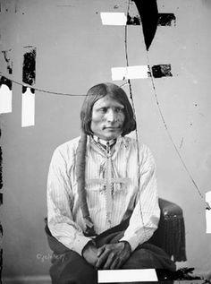 Oglala Dakota man, Hard Heart (Chan-te su-ta'), (Cante suta) May 1872.PNG