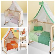 Baby Cot Multifunctional Portable Rocking Bed Wooden Furniture