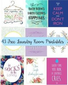 43 Free Laundry Room Printables | Jen and Tonic Free printables for your laundry room decor! #freeprintables #homedecor