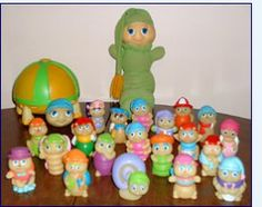 Glow Worm and Glow Worm Friends. I still have some of these. Wish I still had them all. :(