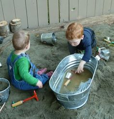 Mud Tub! This is my kind of preschool!