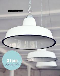 Inspirational Fabriklampe ws cm Emaillelampe Lampe Emaille FACTORY BAUHAUS Loft Enamel