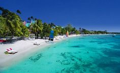 Negril, Jamaica. This is Sandals in this pic!  Jim & I been here several times, totally recommend :)