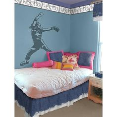 softball+decor | Softball Pitcher Giant Wall Decal - Sudden Shadows | Wall Decor Shops