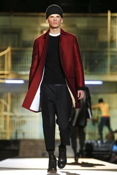 Dsquared2 Menswear Fall Winter 2014 Milan  Like jacket color and style with flat front pant.