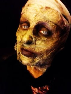 mummy Halloween makeup ideas, zombie mummification