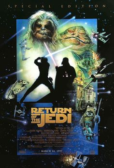 An awesome poster from the Special Edition release of Star Wars Episode VI: Return of the Jedi! Be a good Jedi and check out the rest of our amazing selection of Star Wars posters! Need Poster Mounts. Star Wars Episode 6, Episode Vii, Star Wars Poster, Star Wars Art, Star Trek, Star Wars Brasil, Jedi Ritter, Le Retour Du Jedi, Billy Dee