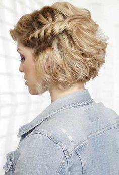 Süße Frisuren für kurze Haare-20