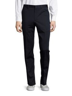 MICHAEL KORS Solid Flat-Front Pants. #michaelkors #cloth #pants