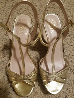 0bb4a1dc96 Vince Camuto Gold Wedges (Size 7.5) #fashion #clothing #shoes #accessories