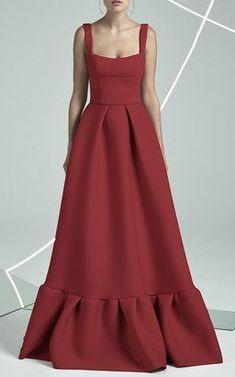 Ethereal Gown: Cora Frill Hem Gown by Rachel Gilbert Fall Winter ...