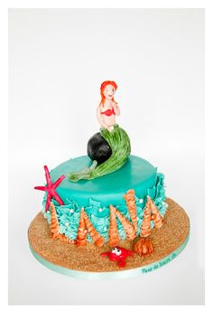 Meerjungfrau Geburtstagstorte, Hergestellt von FleurDeSucre.ch, Zürich, Schweiz