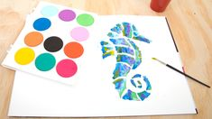 Micador | Jumbo Watercolour Palette Paper Seahorse Watercolor Horse, Watercolour Palette, Art Activities For Kids, Creative Play, Fun Crafts, Stationery, Paper, Kids Art Activities, Fun Diy Crafts